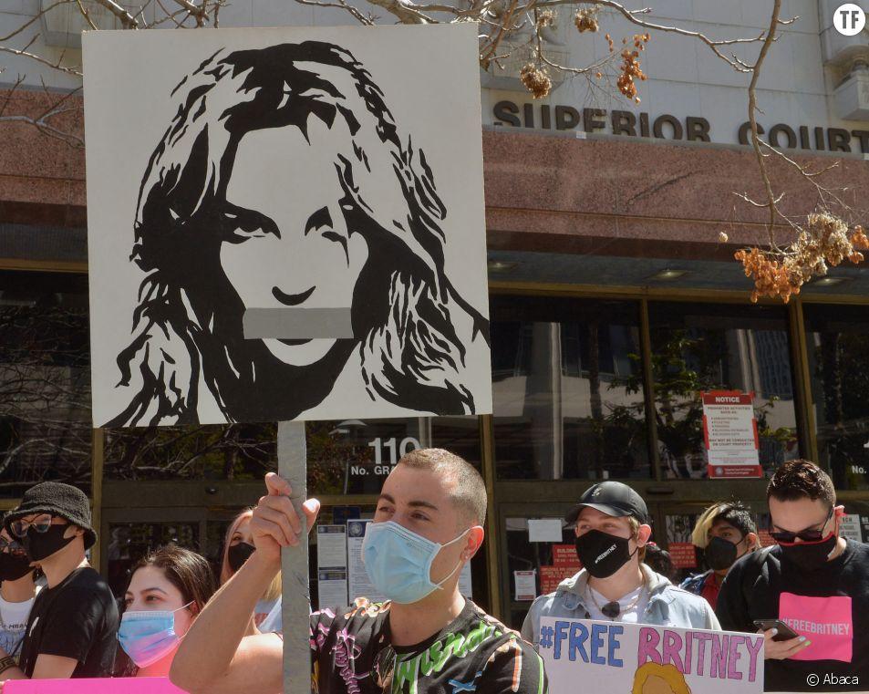 Mobilisation #FreeBritney à Los Angeles, le 17 mars 2021.
