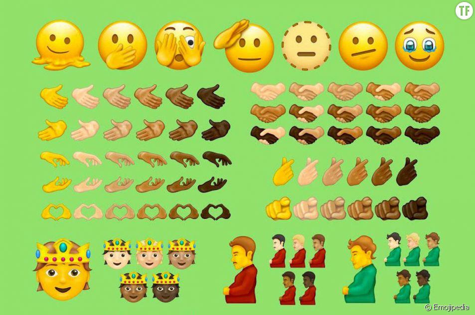 """Grossesse non-binaire, visage qui fond, poignée """"pluriethnique"""" : voici les nouveaux emojis"""