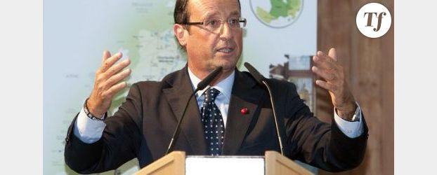 Premier meeting de François Hollande