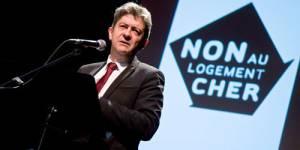 Jean-Luc Mélenchon, candidat du Front de Gauche