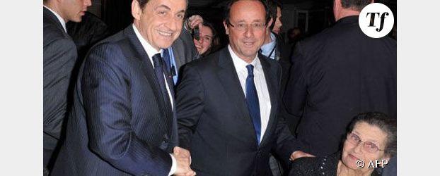 Poignée de main cordiale entre Hollande et Sarkozy au dîner du Crif (vidéo)