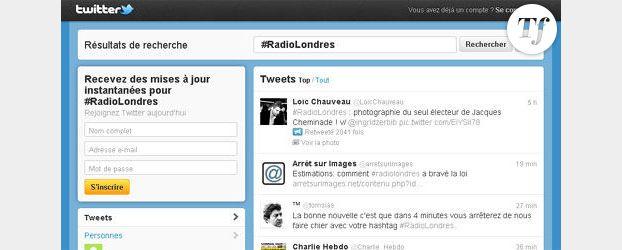 Présidentielle 2012 sur Twitter : nom de code #RadioLondres
