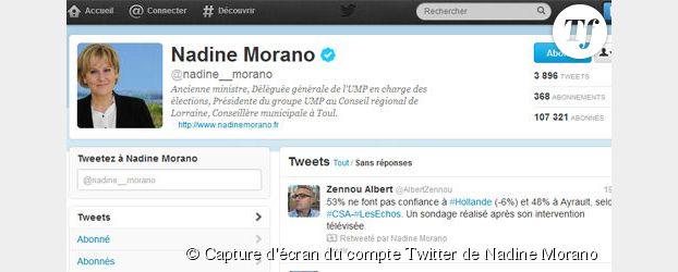 Twitter : Nadine Morano a-t-elle acheté des followers ?