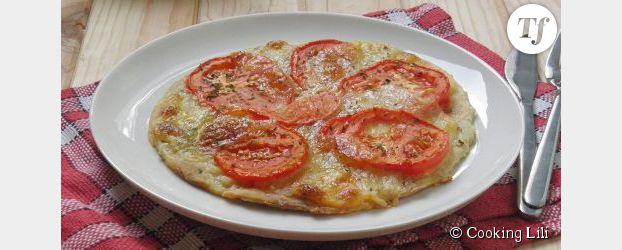 Tarte fine tomate et mozzarella
