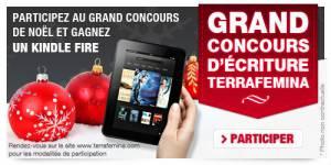 Concours d'écriture de Noël : gagnez une tablette tactile Kindle Fire