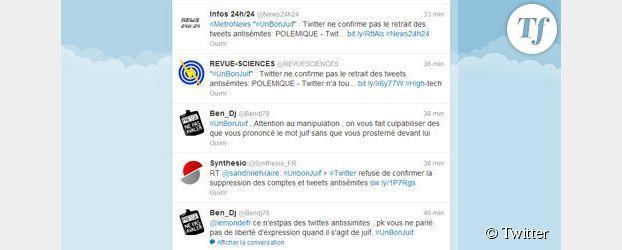 Twitter : l'UEJF attaque pour connaître les auteurs des tweets #UnBonJuif