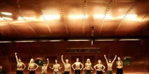 Femen : seins nus dans le métro pour attaquer l'année 2013