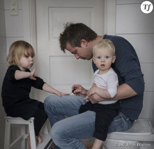 """Un des """"Swedish Dads"""" photographiés par Johan Bävman"""