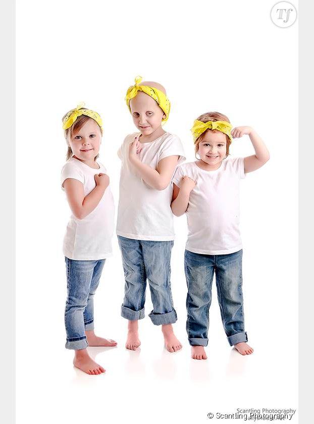 Les trois fillettes dans une série de photos d'août 2014