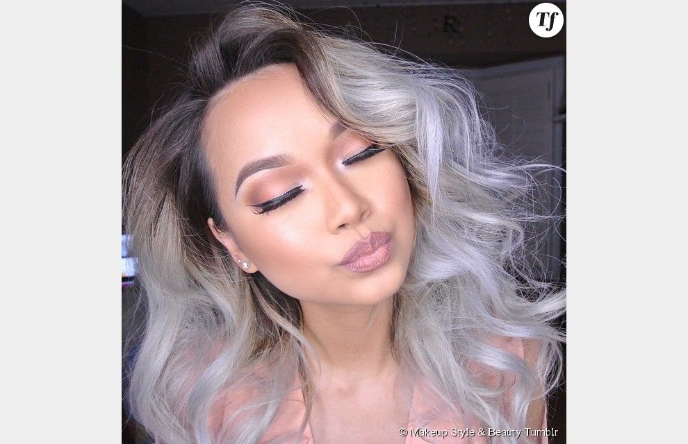 Tie and dye sur cheveux gris