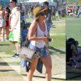 Hilary Duff, jamais sans son sac Chanel (à Coachella en 2014).