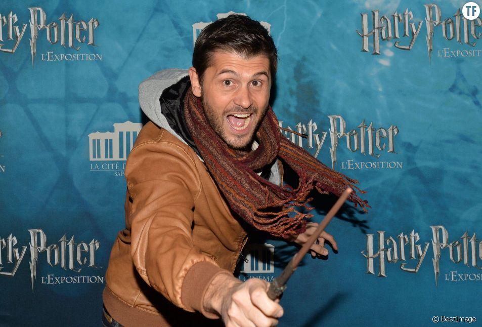 """Christophe Beaugrand - Vernissage de l'exposition """"Harry Potter"""" à la Cité du Cinéma à Saint-Denis, le 2 avril 2015."""