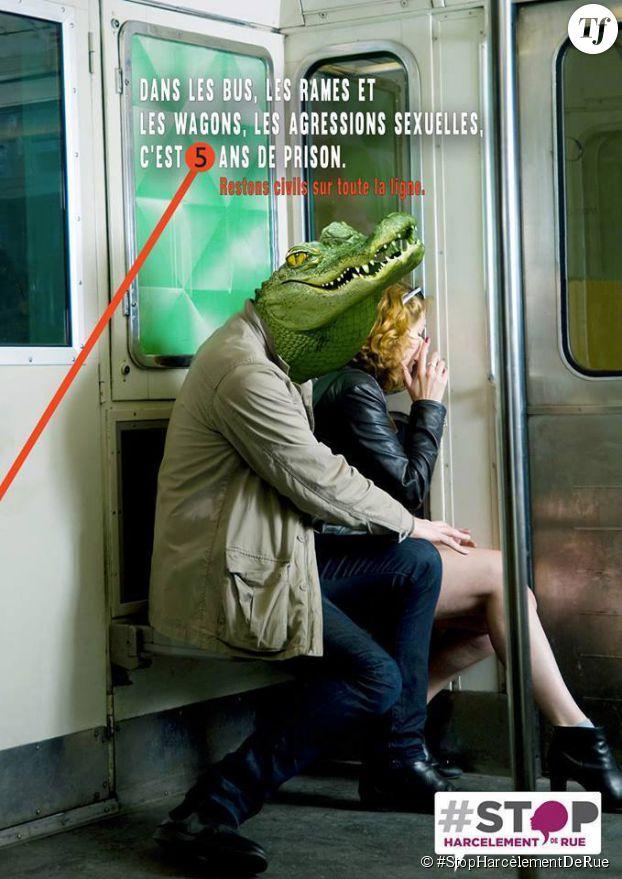 L'affiche de #StopHarcèlementDeRue contre le harcèlement dans les transports en commun