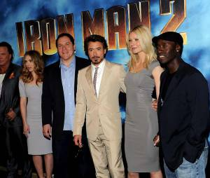 Le casting de Iron Man 2 : Mickey Rourke, Scarlett Johansson, Jon Favreau, Robert Downey Jr, Gwyneth Paltrow et Don Cheadle