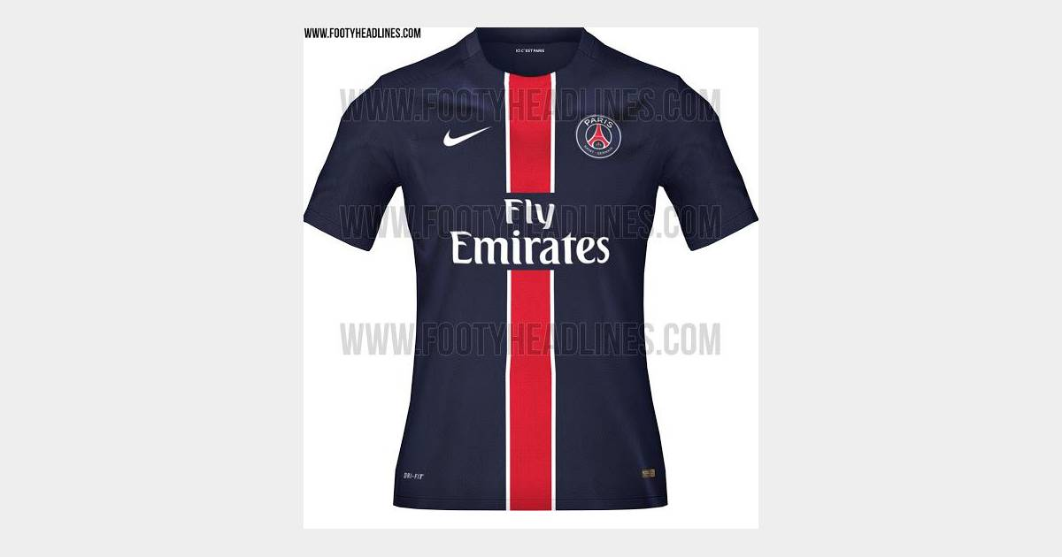 le maillot domicile du psg pour la saison 2015 2016. Black Bedroom Furniture Sets. Home Design Ideas