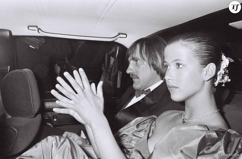 """Sophie Marceau et gérard Depardieu au festival de Cannes en 1984 pour """"Fort Saganne"""""""
