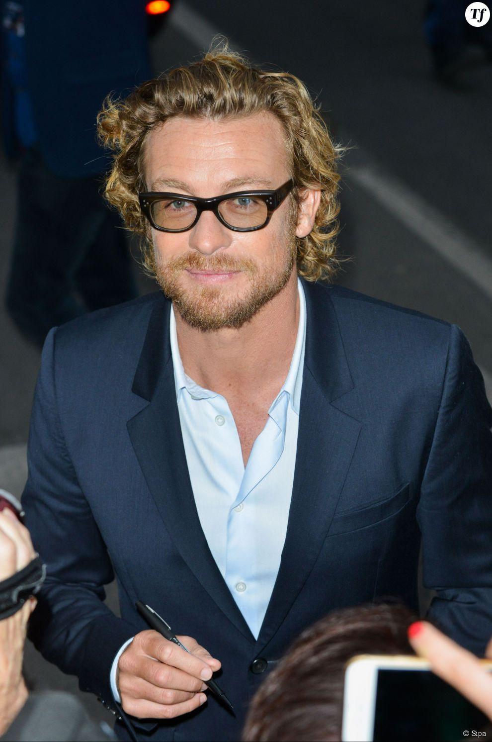 L'acteur de The Mentalist Simon Baker après Le Grand Journal de Canal Plus le 14 mai au Festival de Cannes 2015
