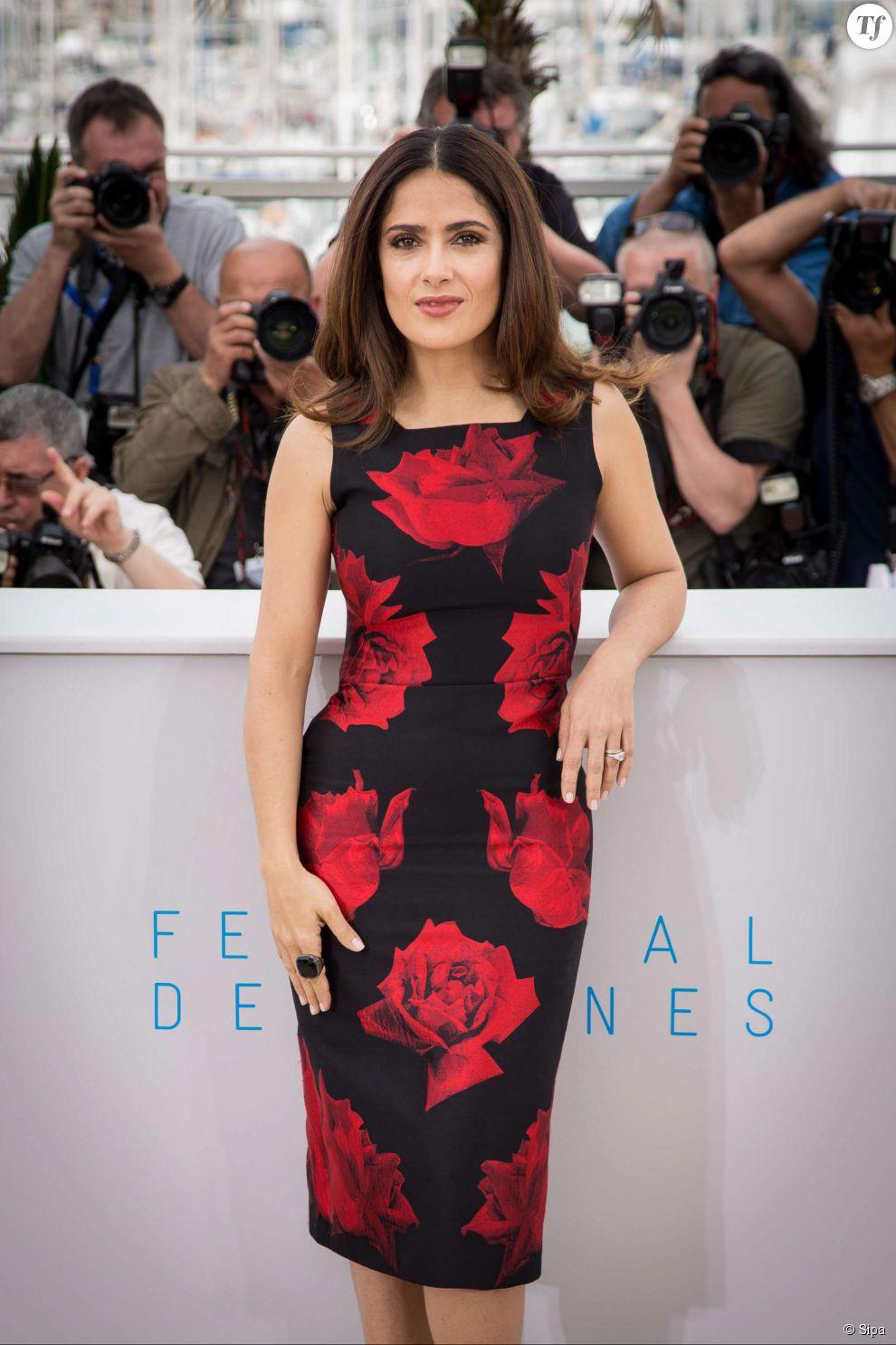 """Salma Hayek au photocall du film """"Tale of Tales"""" au Festival de Cannes 2015 le 14 mai 2015."""