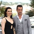 Rachel Weisz et Colin Farrell au photocall du film The Lobster au 68e Festival de Cannes 2015 le 15 mai 2015