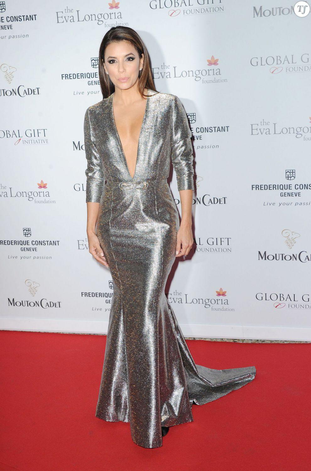 Eva Longoria au Global Gift Gala du 68e festival de Cannes le 14 mai 2015