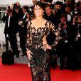 Michelle Rodriguez sur le tapis rouge lors la projection de Mad Max au Festival de Cannes 2015