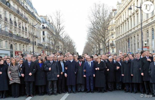 La photo originale de la Marche républicaine du 11 janvier 2015