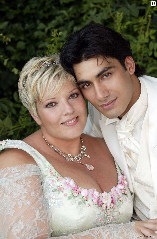 Laurence Boccolini et son mari Mickaël le jour de leur mariage