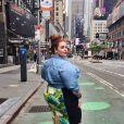 La jeune Tess Holliday déambulant dans les rues de New York.