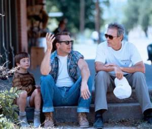 Kevin Costner et Clint Eastwood sur le tournage d'Un Monde Parfait.