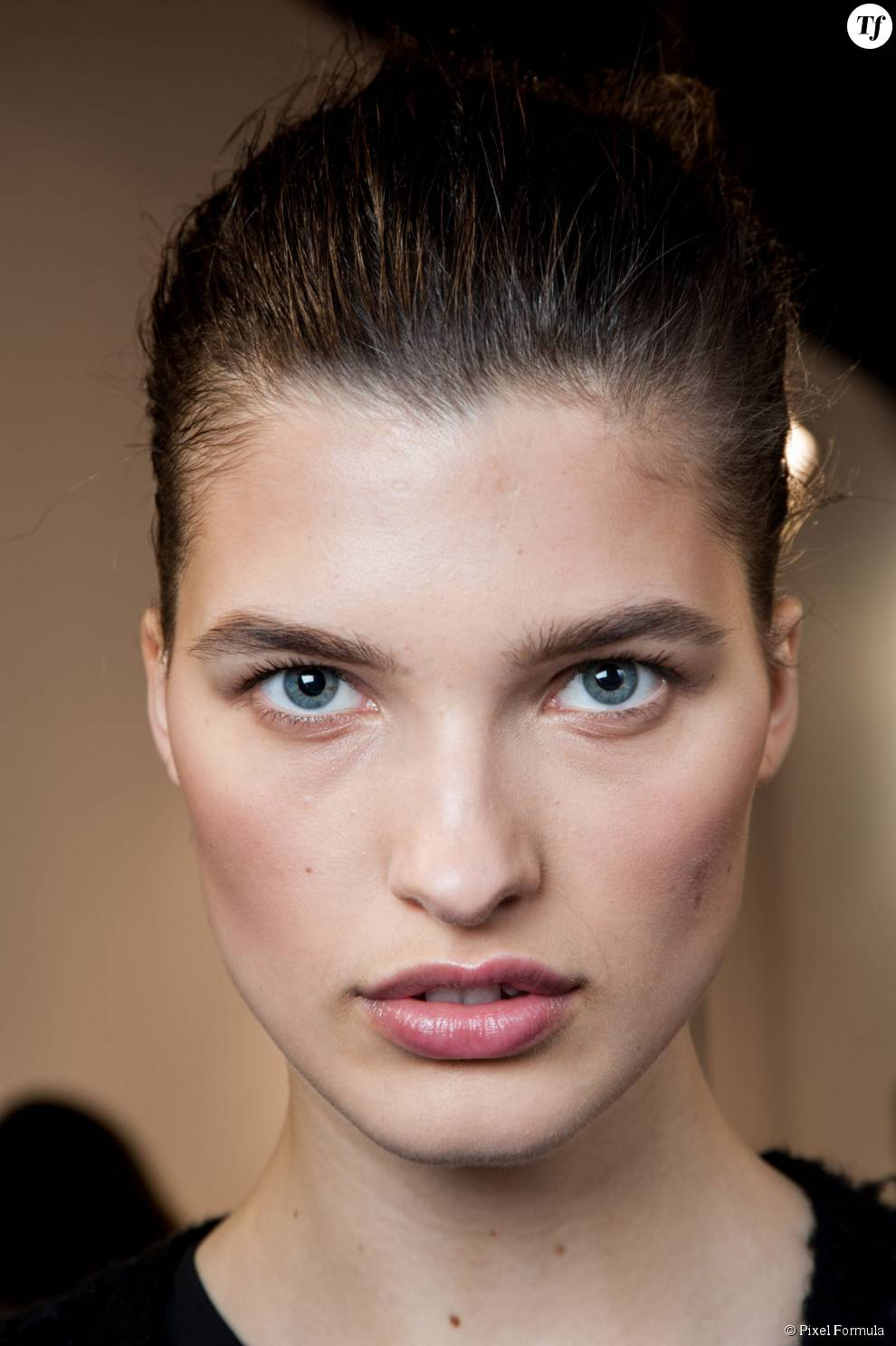 Maquillage nude chez Isabel Marant automne-hiver 2015-2016.