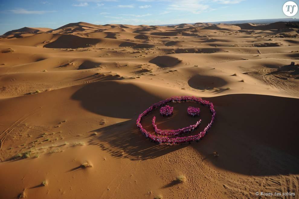 Un smiley dans le désert contre le cancer