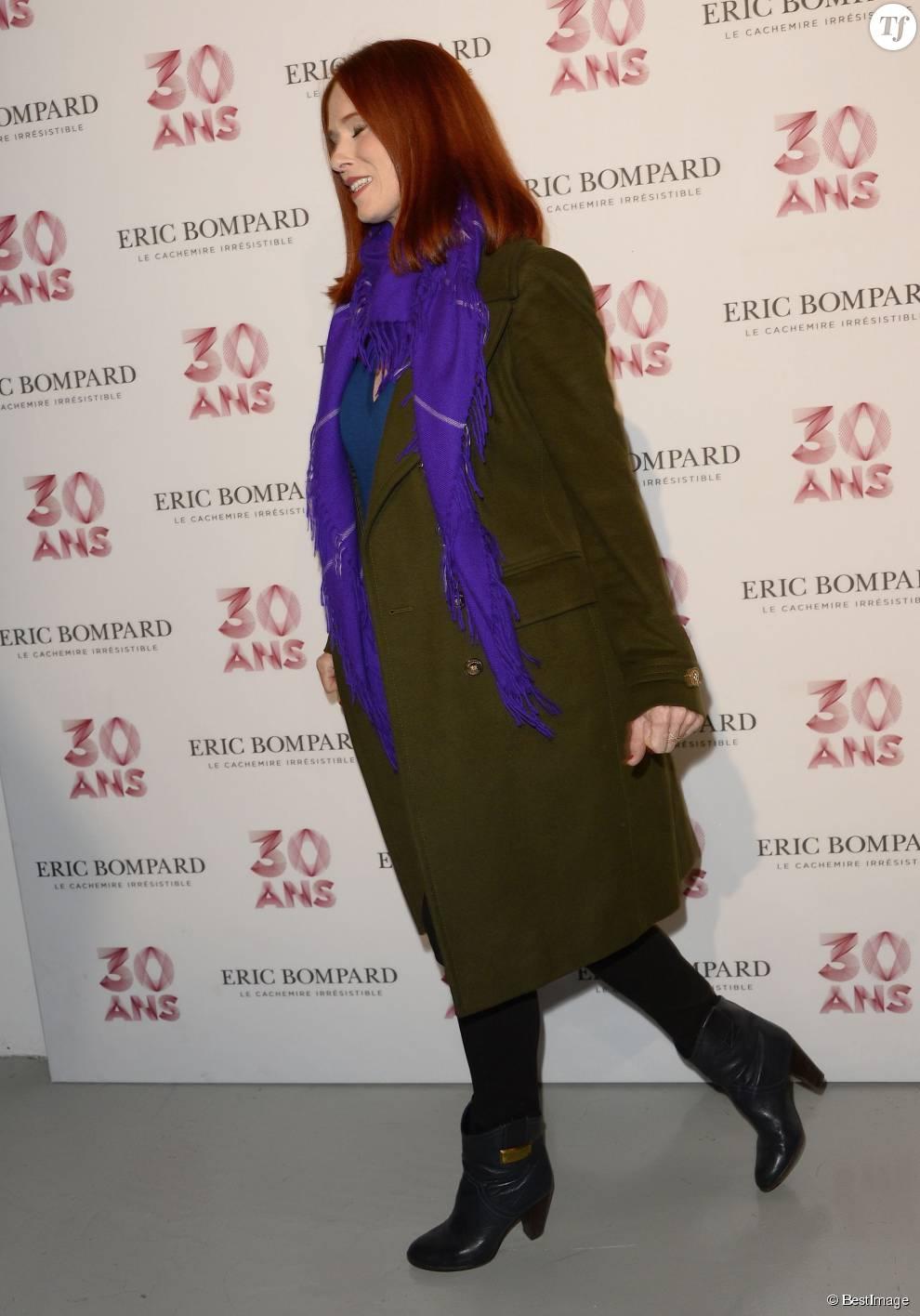 Audrey Fleurot (enceinte) - Soirée des 30 ans de la Maison Eric Bompard au Palais de Tokyo à Paris le 15 octobre 2015.