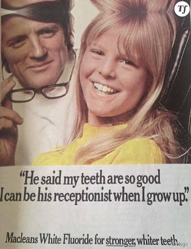 """"""" Il a dit que mes dents étaient tellement belles que je pourrais devenir sa réceptionniste, plus tard. """""""