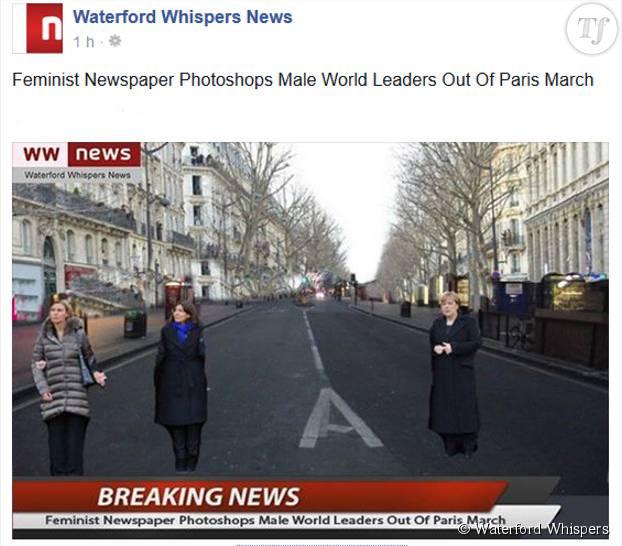 La marche de paris sans les hommes