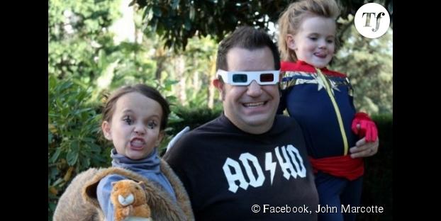 John Marcotte et ses deux adorables petites filles.
