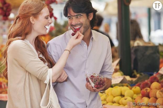 Un tour au marché en amoureux