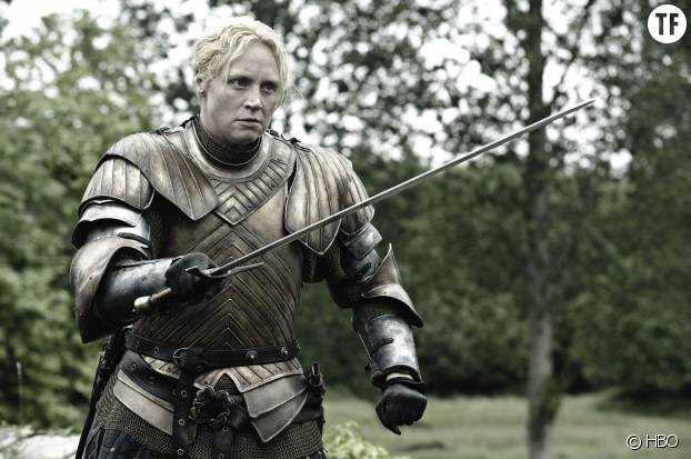Brienne et son épée dans Game of Thrones