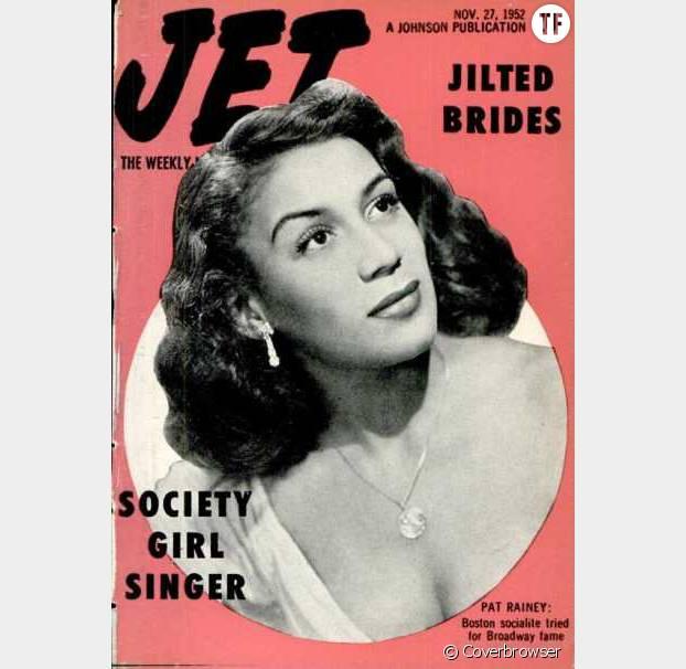 La pin-up noire Pat Rainez en Une du magazine JET