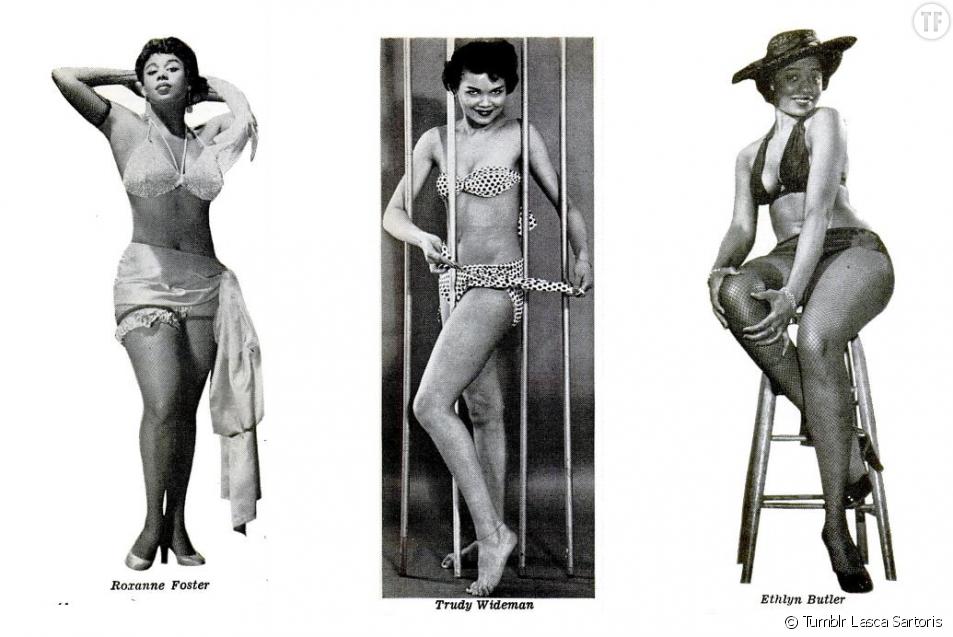 Des pin-ups noires dans l'édition du magazine Jet de 1955