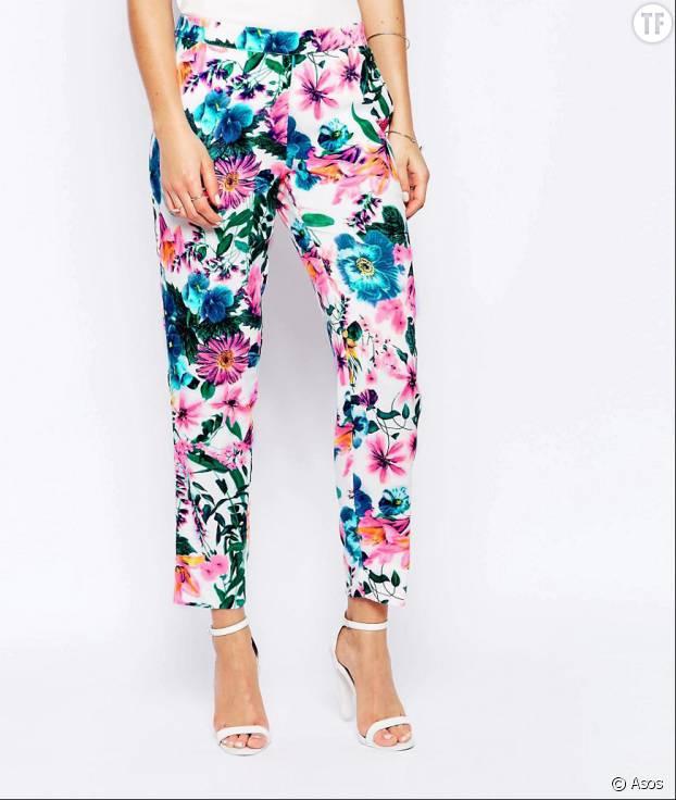 Pantalon aux motifs fleuris, Asos, 42,99