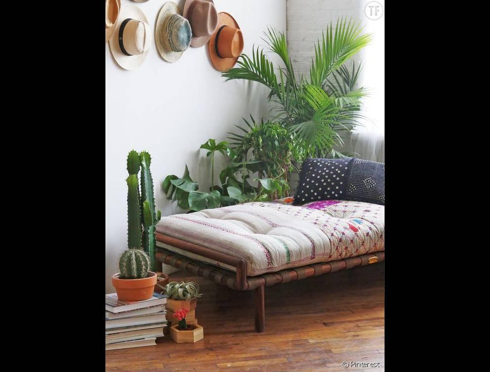 30 idées de déco bohème repérées sur Pinterest : la pièce à vivre (2 ...