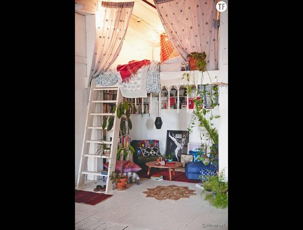 30 id es de d co boh me rep r es sur pinterest le studio. Black Bedroom Furniture Sets. Home Design Ideas