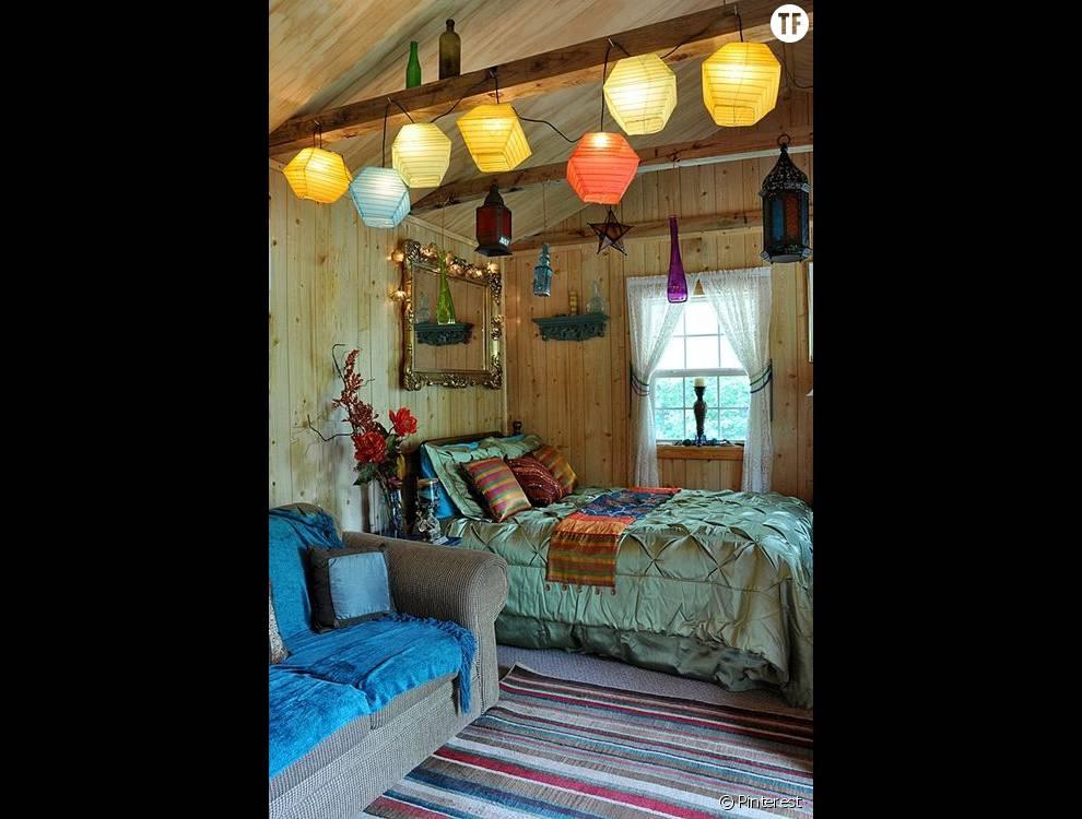 30 Idees De Deco Boheme Reperees Sur Pinterest La Chambre