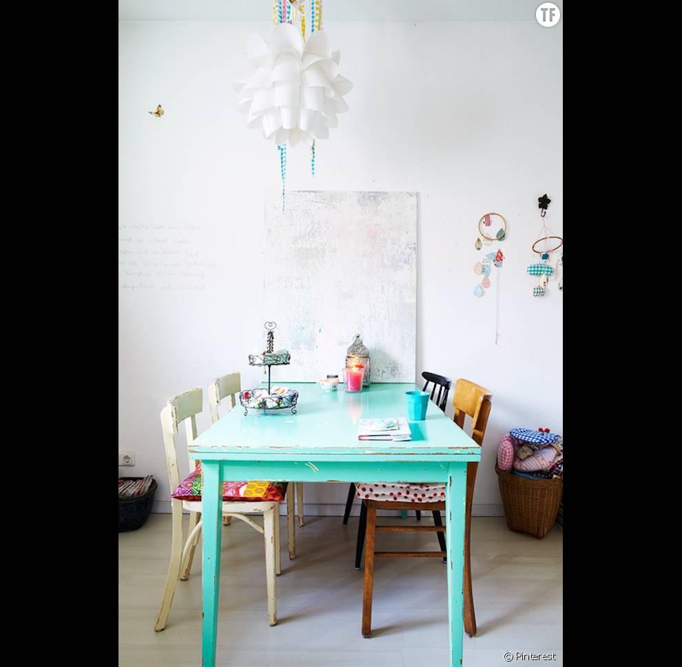 30 Idees De Deco Boheme Reperees Sur Pinterest La Salle A Manger