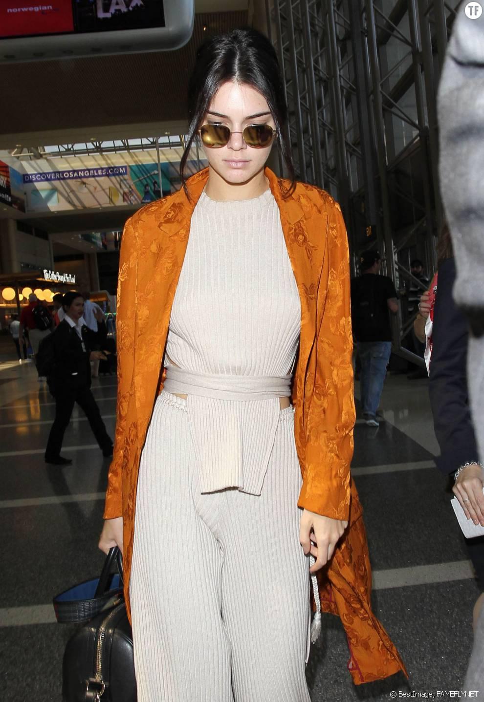 Kendall Jenner arrive en France pour le 69ème Festival de Cannes
