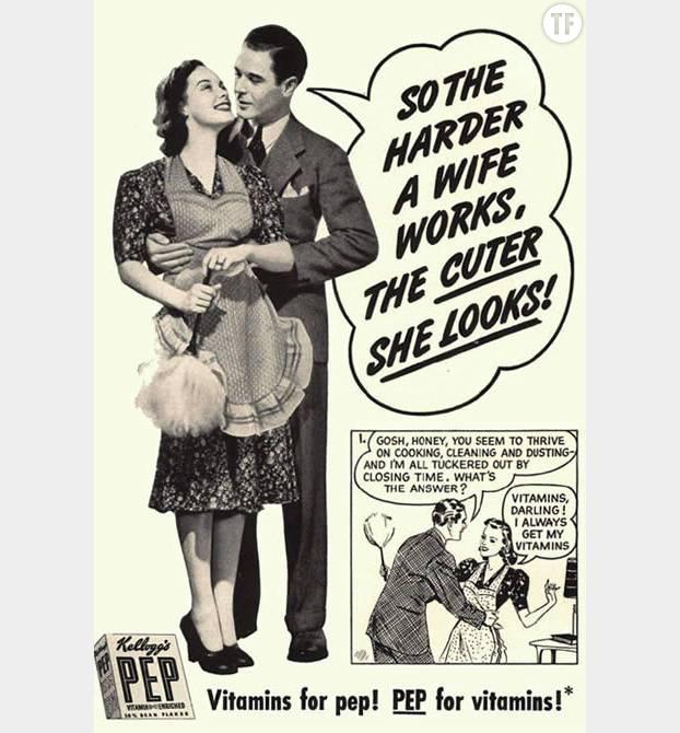 Le guide de la parfaite femme au foyer dans les ann es 50 for Femme au foyer 1960