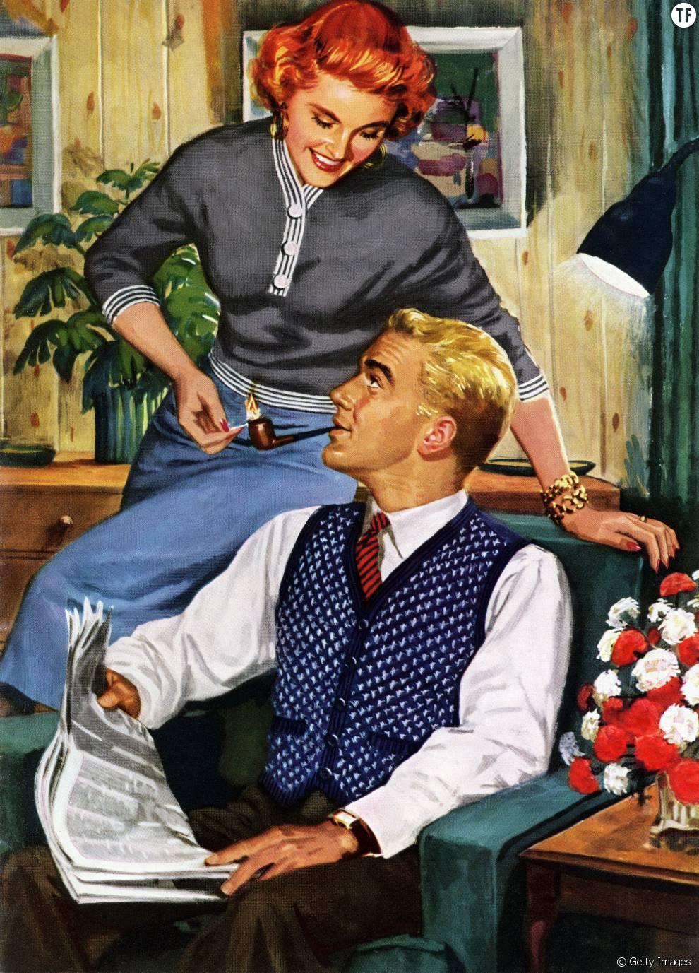 Le guide de la parfaite m re au foyer dans les ann es 50 for Femme au foyer 1900