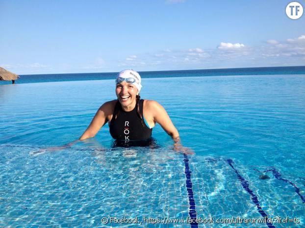Norma Bastidas en entraînement avant un triathlon