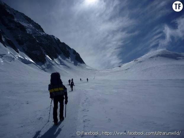 Norma Bastidas en trekking en Antarctique