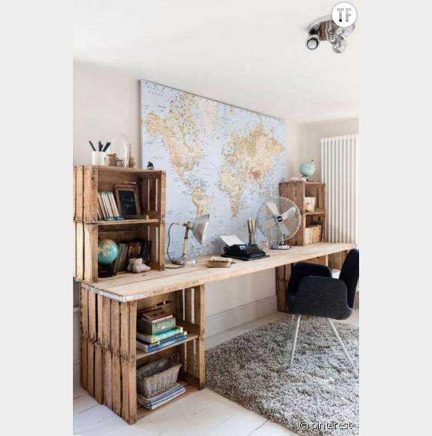 10 id es d co originales pour recycler une vieille caisse en bois terrafemina. Black Bedroom Furniture Sets. Home Design Ideas